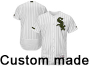 Mens Majestic Chicago White Sox Custom Made White 2017 Memorial Day Flex Base Jersey