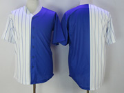 Mens Majestic Mlb Chicago Cubs Blank White Split Version Cool Base Jersey