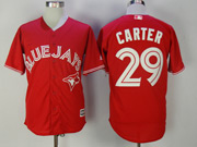 Mens Mlb Toronto Blue Jays #29 Joe Carter Red Cool Base Jersey