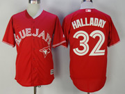 Mens Mlb Toronto Blue Jays #32 Roy Halladay Red Cool Base Jersey