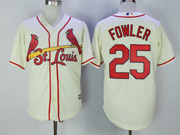 Mens Mlb St. Louis Cardinals #25 Dexter Fowler Cream Cool Base Jersey