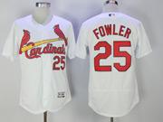 Mens Mlb St. Louis Cardinals #25 Dexter Fowler White Flex Base Jersey