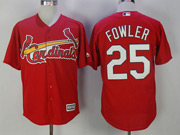 Mens Mlb St. Louis Cardinals #25 Dexter Fowler Red Cool Base Jersey