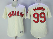 Mens Majestic Cleveland Indians #99 Rick Vaughn Cream Flex Base Jersey