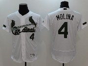 Mens Mlb St.louis Cardinals #4 Yadier Molina White 2017 Memorial Day Flex Base Jersey