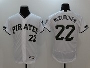 Mens Majestic Mlb Pittsburgh Pirates #22 Andrew Mccutchen White 2017 Memorial Day Flex Base Jersey