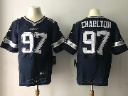 Mens Nfl Dallas Cowboys #97 Taco Charlton Blue Elite Jersey