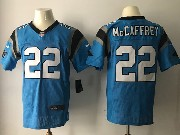 Mens Nfl Carolina Panthers #22 Christian Mccaffrey Blue Elite Jersey