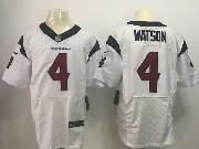 Mens Nfl Houston Texans #4 Deshaun Watson White Elite Jersey