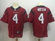Mens Nfl Houston Texans #4 Deshaun Watson Red Elite Jersey
