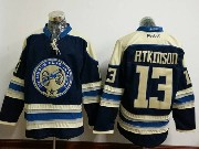 Mens Reebok Nhl Columbus Blue Jackets #13 Cam Atkinson Blue Alternate Premier Jersey