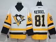 Mens Reebok Nhl Pittsburgh Penguins #81 Phil Kessel Away Premier White Jersey