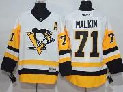 Mens Reebok Nhl Pittsburgh Penguins #71 Evgeni Malkin Away Premier White Jersey