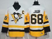 Mens Ccm Nhl Pittsburgh Penguins #68 Jaromir Jagr Away Premier White Throwbacks Jersey