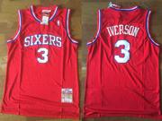 Mens Nba Philadelphia Sixers #3 Allen Iverson Red Soul Swingman Jersey