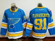 Mens Reebok St.louis Blues #91 Vladimir Tarasenko Blue 2017 Winter Classic Jersey