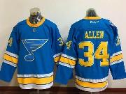 Mens Reebok St.louis Blues #34 Jake Allen Blue 2017 Winter Classic Jersey