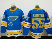 Mens Reebok St.louis Blues #55 Colton Parayko Blue 2017 Winter Classic Jersey