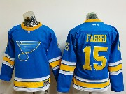 Youth Reebok St.louis Blues #15 Robby Fabbri Blue 2017 Winter Classic Jersey