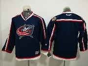 Youth Reebok Nhl Columbus Blue Jackets Blank Dark Blue Home Premier Jersey