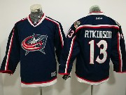 Youth Reebok Nhl Columbus Blue Jackets #13 Cam Atkinson Dark Blue Home Premier Jersey