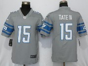 Mens Nfl Detroit Lions #15 Golden Tate Iii Steel 2017 Color Rush Limited Grey Jersey