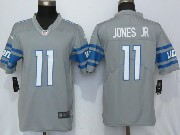 Mens Nfl Detroit Lions #11 Marvin Jones Steel 2017 Color Rush Limited Grey Jersey