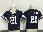 Kids Nfl Dallas Cowboys #21 Ezekiel Elliott Blue Game Jersey