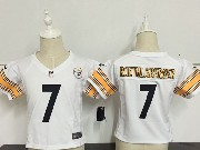 Kids Nfl Pittsburgh Steelers #7 Roethlisberger White Jersey