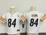 Kids Nfl Pittsburgh Steelers#83 Antonio Brown Black Game Jersey