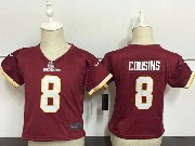 Kids Nfl Washington Redskins #8 Kirk Cousins Red Game Jersey