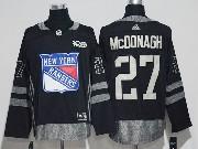 Mens Reebok Nhl New York Rangers #27 Ryan Mcdonagh Black Black 100 Anniversary Jersey