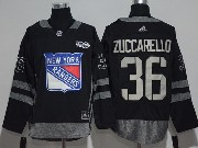 Mens Reebok Nhl New York Rangers #36 Mats Zuccarello Black Black 100 Anniversary Jersey