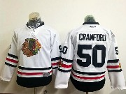 Youth Reebok Nhl Chicago Blackhawks #50 Corey Crawford White 2017 Winter Classic Jersey