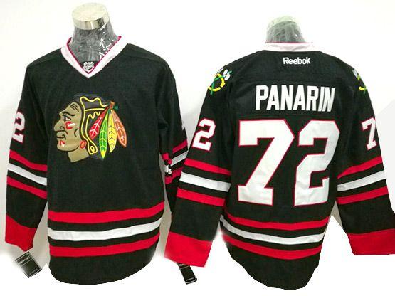Mens Reebok Nhl Chicago Blackhawks #72 Panarin Black (2014 New) Jersey