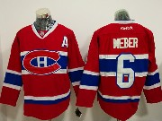 Mens Reebok Nhl Montreal Canadiens #6 Shea Weber Red With A Patch Jersey