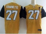 Mens Nfl   Jacksonville Jaguars #27 Leonard Fournette Gold Elite Jersey