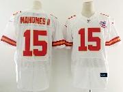 Mens Nfl Kansas City Chiefs #15 Patrick Mahomes Ii White Elite Jersey