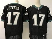 Mens   Philadelphia Eagles #17 Alshon Jeffery Black Elite Jersey