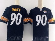 Mens Pittsburgh Steelers #90 T. J. Watt Black Elite Jersey