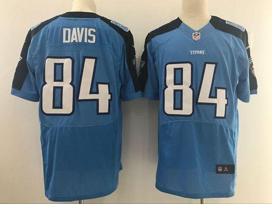 Mens Nfl Tennessee Titans #84 Corey Davis Light Blue Elite Jersey