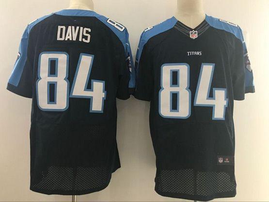 Mens Nfl Tennessee Titans #84 Corey Davis Dark Blue Elite Jersey