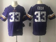 Mens Nfl Minnesota Vikings #33 Dalvin Cook Purple Elite Jersey