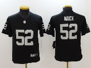Youth Nfl Oakland Raiders #52 Khalil Mack Black Vapor Untouchable Limited Jersey