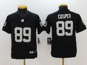 Youth Nfl Oakland Raiders #89 Amari Cooper Black Vapor Untouchable Limited Jersey