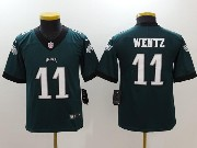 Youth Nfl Philadelphia Eagles #11 Carson Wentz Green Vapor Untouchable Limited Jersey