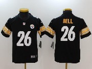 Youth Nfl Pittsburgh Steelers #26 Le'veon Bell Black Vapor Untouchable Limited Jersey