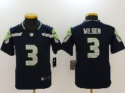 Youth Nfl Seattle Seahawks #3 Russell Wilson Navy Blue Vapor Untouchable Limited Jersey