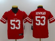 Youth Nfl San Francisco 49ers #53 Navorro Bowman Red Vapor Untouchable Limited Jersey