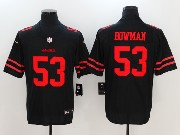 Mens San Francisco 49ers #53 Navorro Bowman Black Vapor Untouchable Limited Jersey